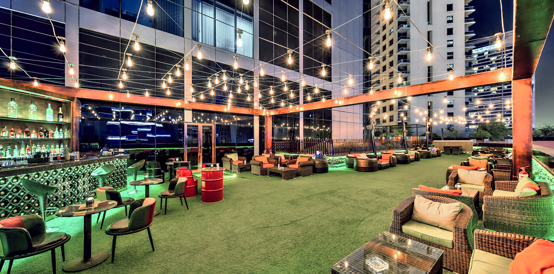 Terrace and lounge in dubai